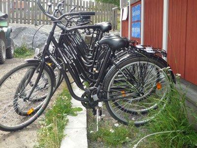Cykeluthyrning finns lite varstans på Möja.