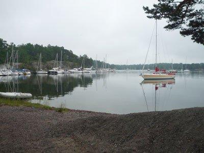 Segelbåtar på Finnhamn.