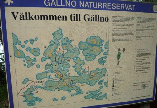 Karta över Gällnö.