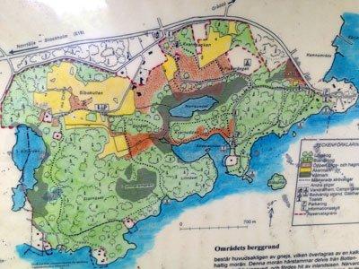 Ridderholms naturreservat karta