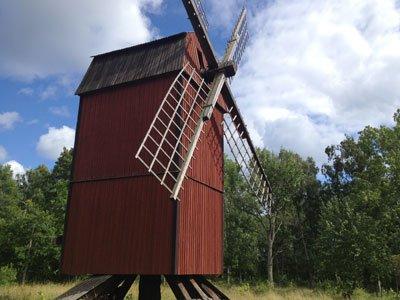 Stolpkvarn i Riddersholms naturreservat
