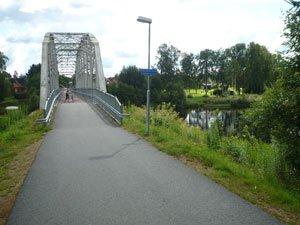 Bro vid Klarälven på Klarälvsbanan