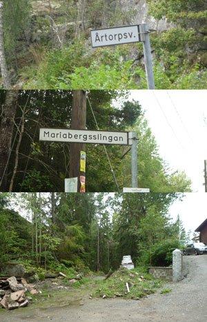 Småvägarna som leder till vandringsstigen Brinkslingan i Paradiset.