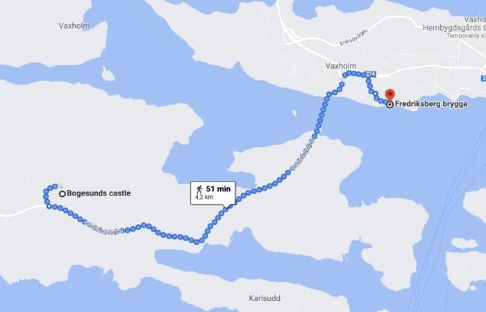 Fredriksbergs brygga till Bogesunds gård